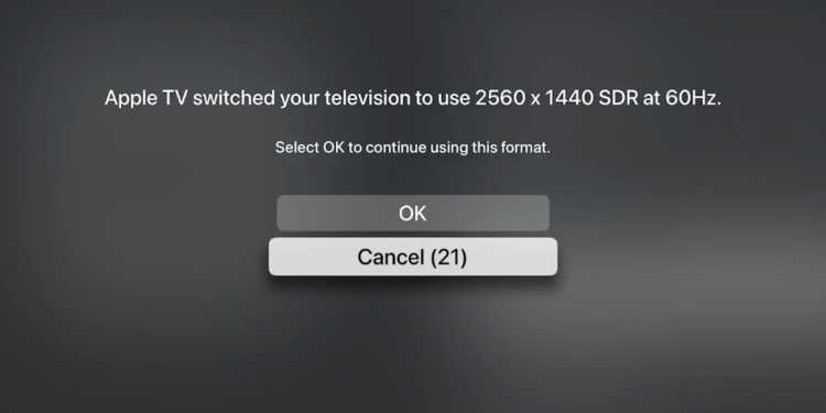 apple tv installation and changing resolution