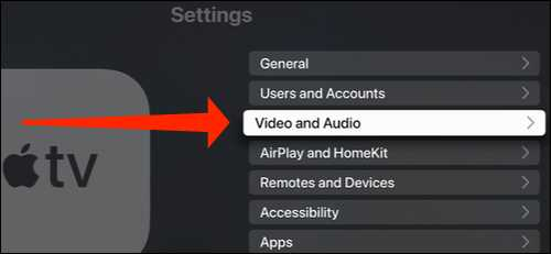 changing audio and video resolution in apple tv
