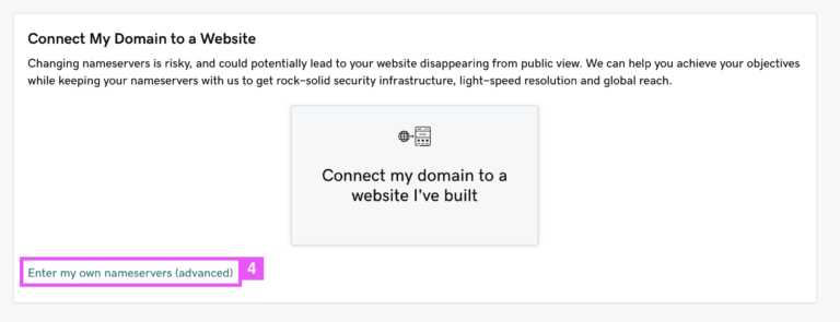 connect your website to domain