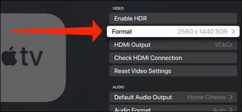 enable and changing apple tv resolution