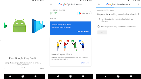 google opinion rewards for make money from online at work from home