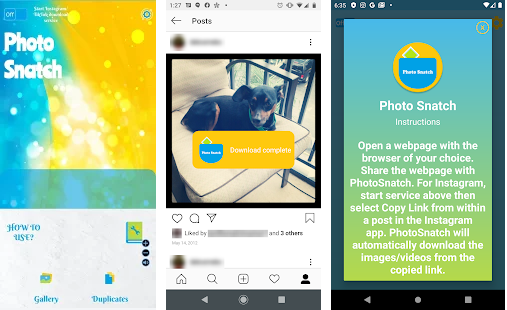 photo snatch application for social media downloders