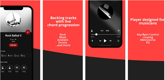 Back track it is best for karoke application for android