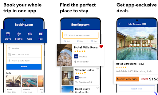 Booking.com best Android apps for booking hotels