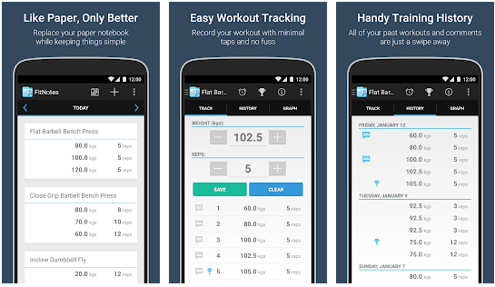 FitNotes best bodybuilding apps for Android