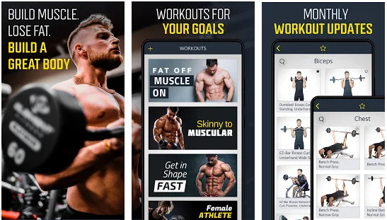 Gym Workout Planner best bodybuilding apps for Android