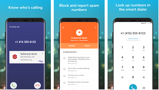 Hiya best spam call blocker application for android