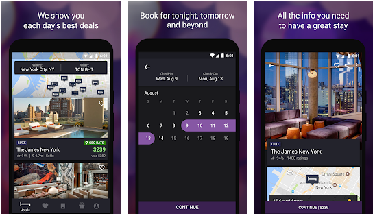 HotelTonight best Android apps for booking hotels