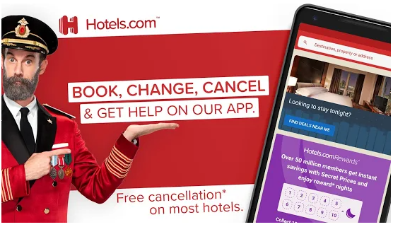 Hotels.com best Android apps for booking hotels
