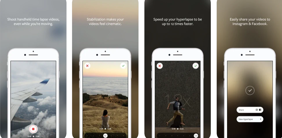 Instagram hyperlapse application for making movie from iphone