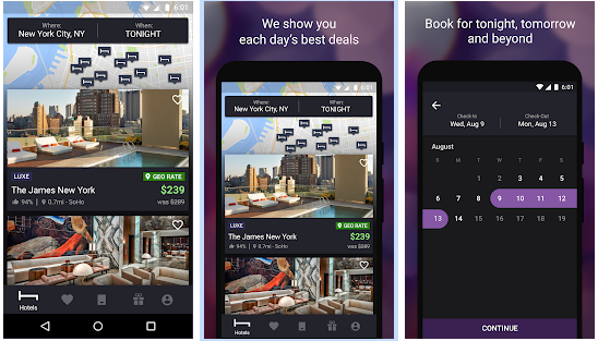 KotelTonigh best Android apps for booking hotels