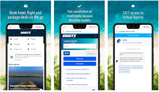 Orbitz best Android apps for booking hotels