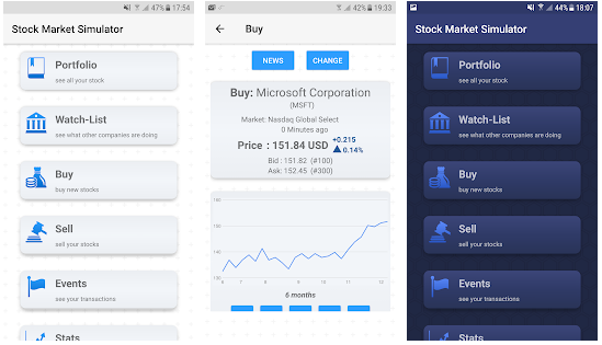 Stock market simulator from nyxcore best stimulator app for android