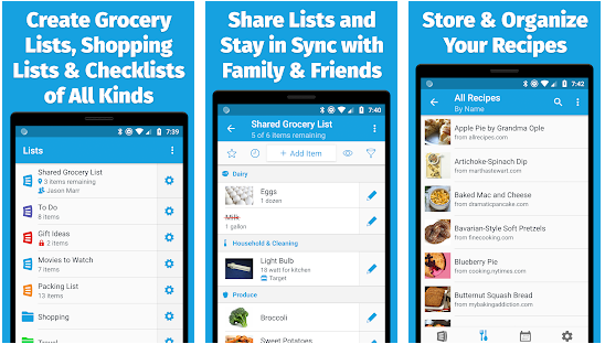 anylist best meal planning application for android