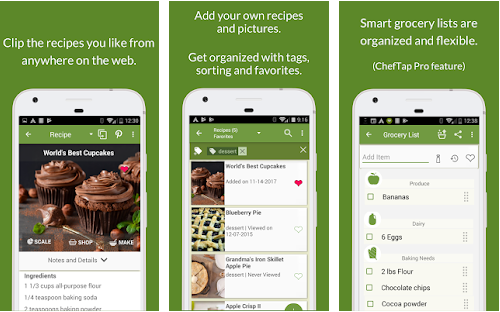 cheftap best meal planning application for android