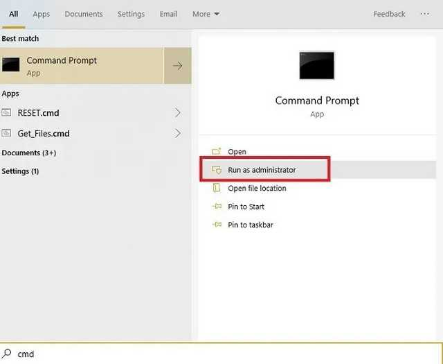 commond prompt to clean your windows 10 registry