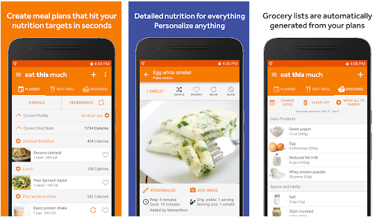 eat this much best meal planning application for android