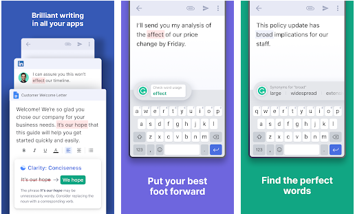 grammerly best writer applicaiton for android device
