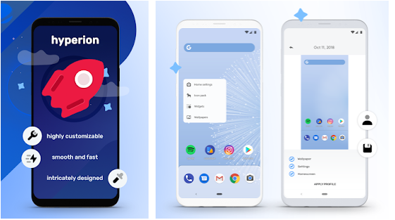 hyperion best android launcher application in 2021