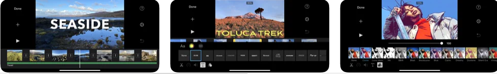 imovie application for making movie from iphone