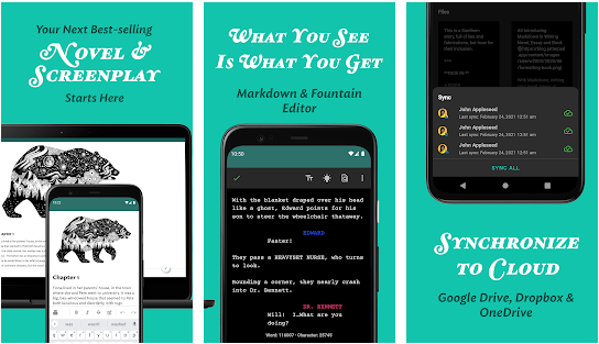 jotterpad best android writer application for android