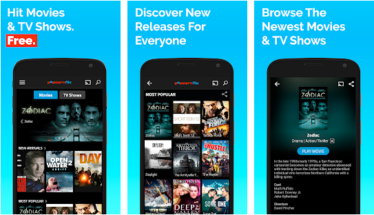 popcornflix best movies streaming application for android