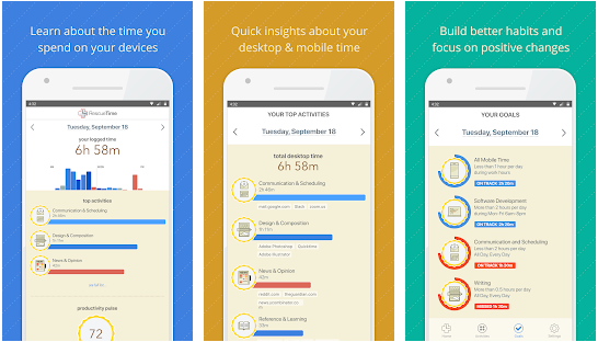 rescue time best site blocker application for android and ios