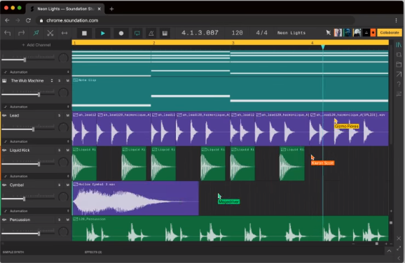 soundation software for making music from online