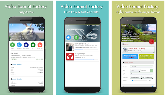 video format factory best video convertor application for android 2021