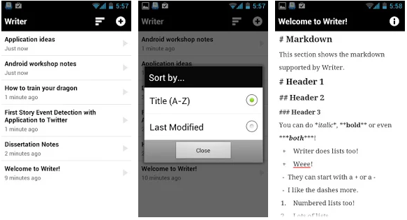 writer best writer application for android device