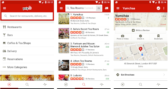 yelp best road trip apps for Android in 2021