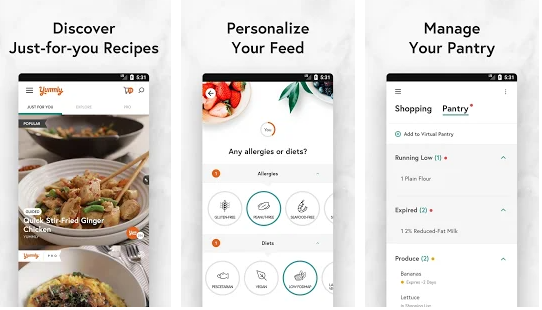 yummly best meal planning application for android