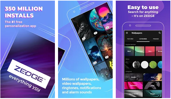 zedge best wallpaper and ringtone application for android