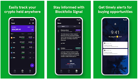 Blockfolio cryptocurrency apps for Android